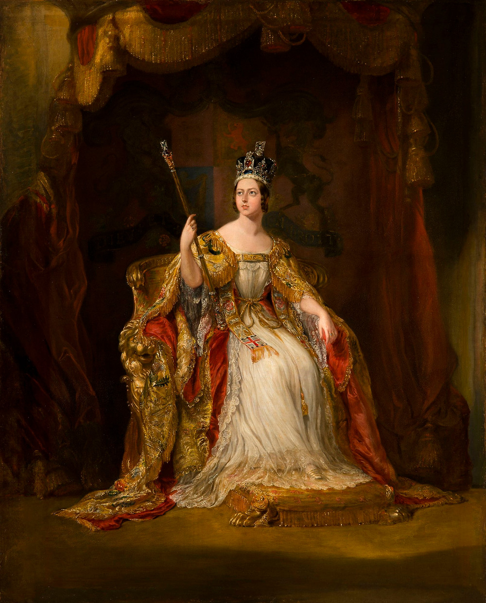 Queen Victoria portrait painting, by Sir George Hayter, c.1838-40