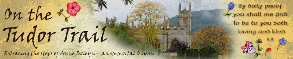 Link banner to On the Tudor Trail  website, tudor history, rose, Royal England