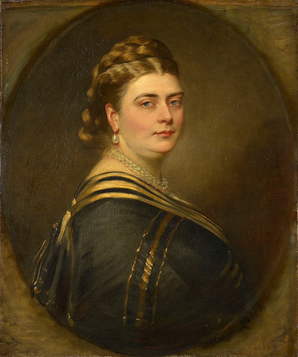 Princess Mary Adelaide of Cambridge, portrait painting by the artist Henry Weigall