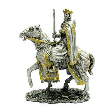 Medieval king on horse model