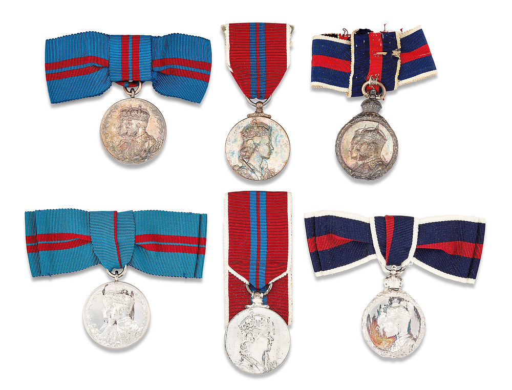 A COLLECTION OF SIX CORONATION MEDALS . royal family , british royAL family. british monarchy