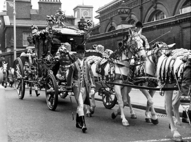 Eileen Warren/The Gold State Coach on Coronation Day