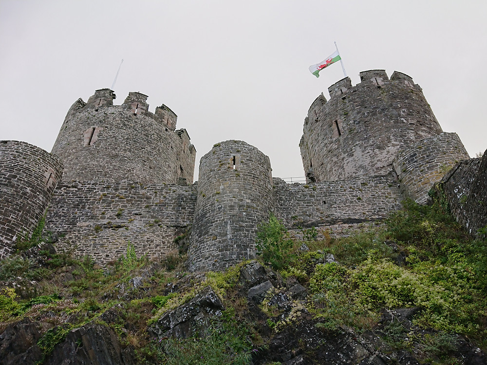 Conwy Castle, in North Wales,