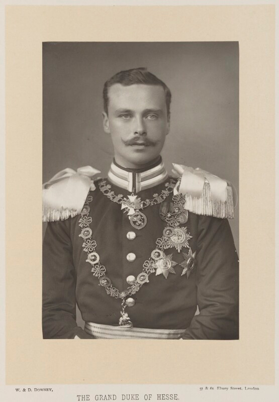 Ernest Ludwig, Grand Duke of Hesse and by Rhine  by W. & D. Downey, published by Cassell & Company, Ltd carbon print, published 1894 5 1/2 in. x 3 5/8 in. (139 mm x 92 mm) image size acquired (originally for the library) © National Portrait Gallery, London