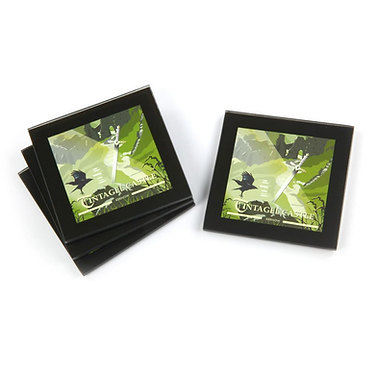 Tintagel sword in the stone glass coasters