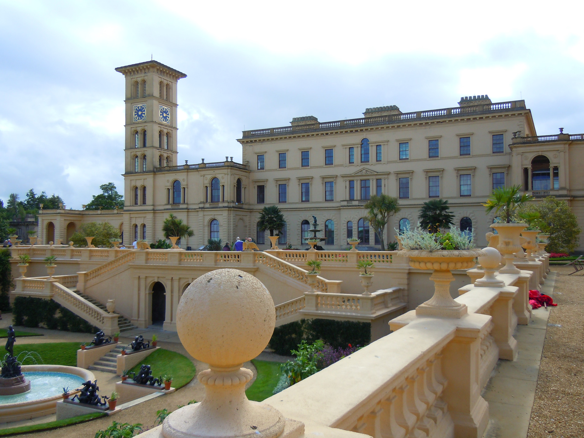 View of Osborne House, Queen Victoria#s favourite house on the Isle of Wight