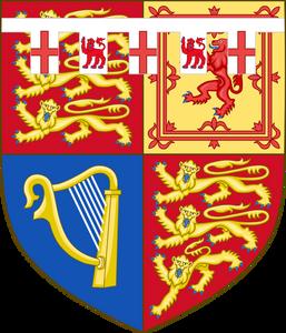 Arms of Prince Richard, Duke of Gloucester, son of Prince George, Duke of Kent (third son of George V) & Alice Montagu Douglas Scott.