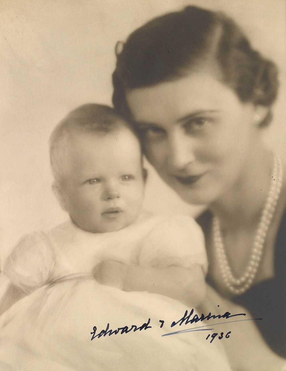 The Duchess of Kent with Prince Edward, 17 Feb 1936. Royal Collection Trust/(c) Her Majesty Queen Elizabeth II 2018