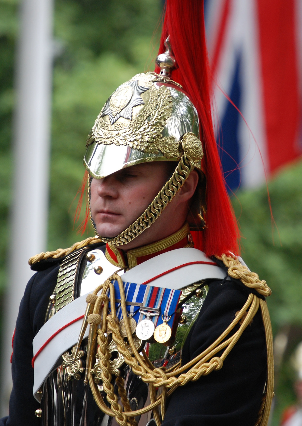 A soldier of the Blues & Royals