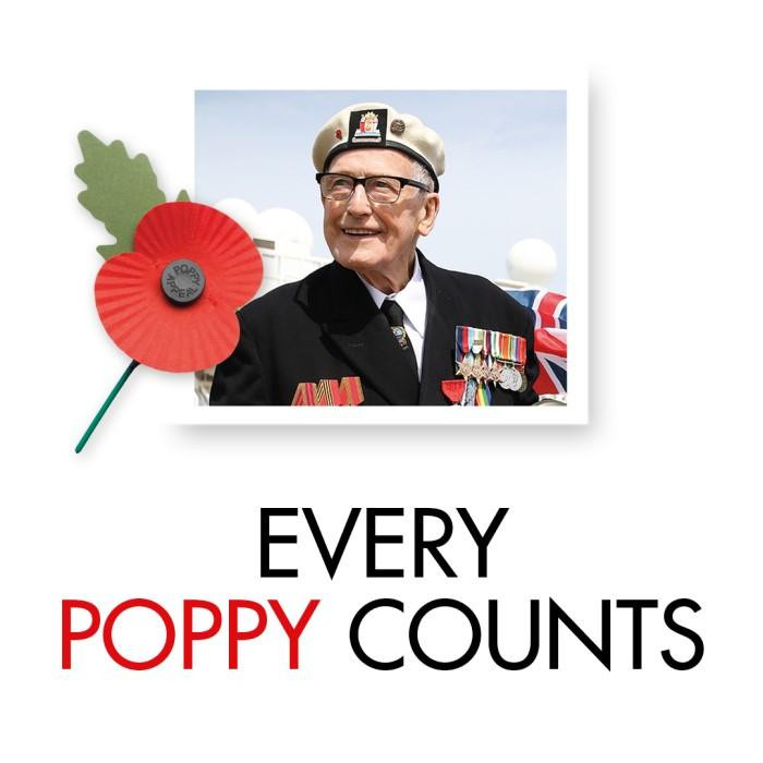 Every Poppy Counts - Poppy Appeal 2020, The Royal British Legion