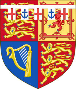 Arms of HRH Prince Michael of Kent. (born 1942) second son of Prince George, Duke of Kent (fourth son of King George V) & Princess Marina of Greece & Denmark. The coat of arms was granted in 1962.