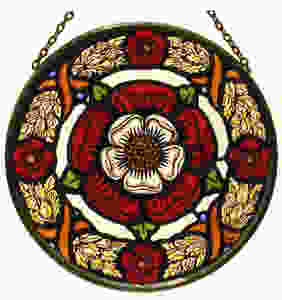 Stained Glass Tudor Rose and Chaplet sold by English Heritage. Tudor rose