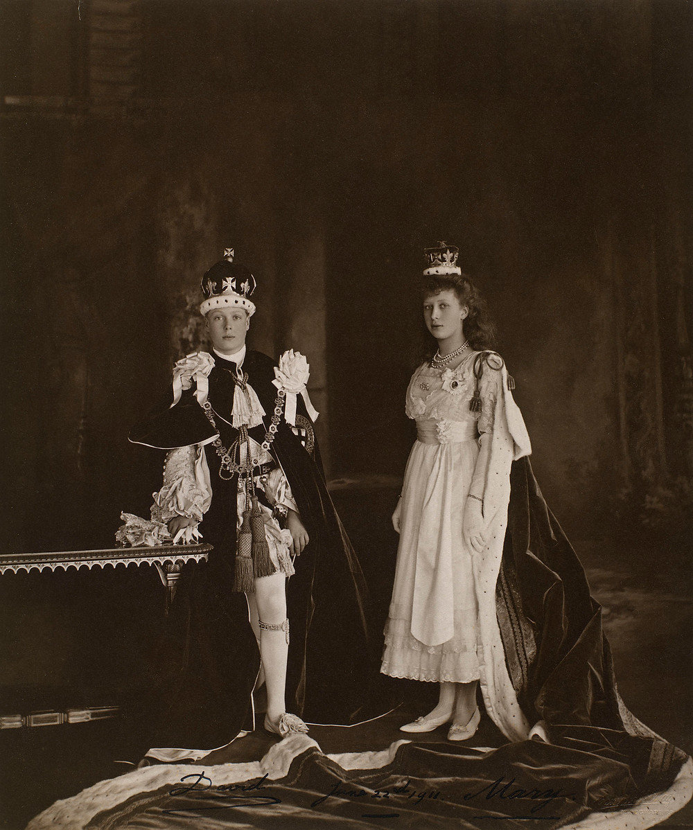 Edward, Prince of Wales, later King Edward VIII (1894-1972) and Princess Mary, later The Princess Royal and Countess of Harewood (1897-1965) 22 Jun 1911