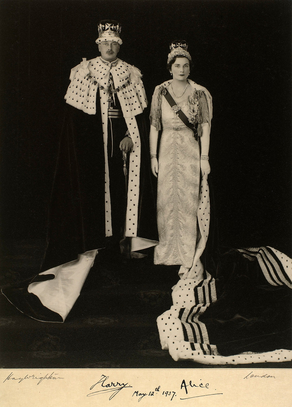The Duke & Duchess of Gloucester, 1937, dressed for the Coronation of George VI & Queen Elizabeth
