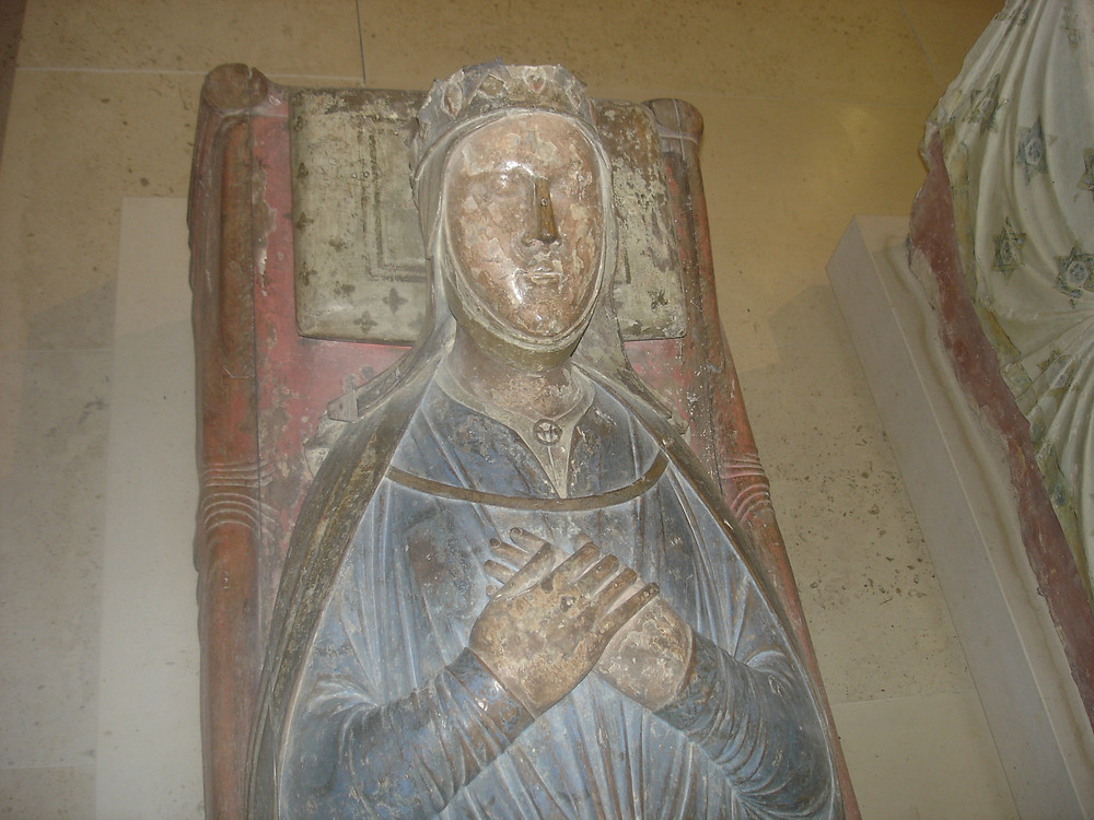 Isabella of Angoulême, tomb in the church of Fontevraud Abbey (France)