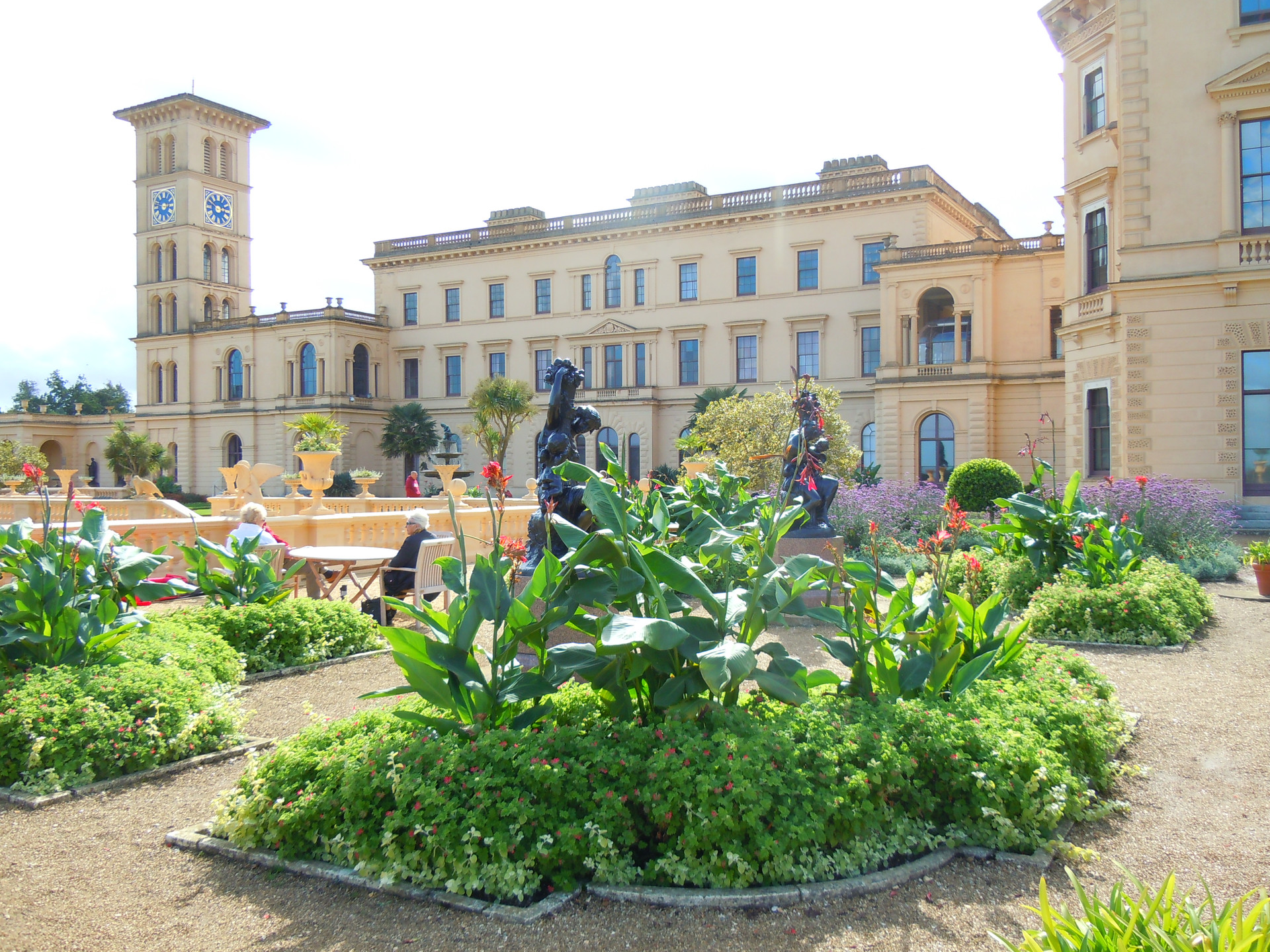 View of Osborne House from the gardens.