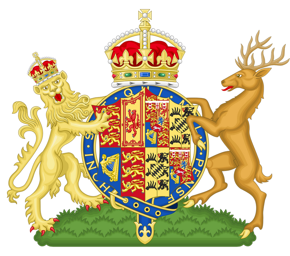 Queen Mary's coat of arms. Mary was the Queen consort of George V