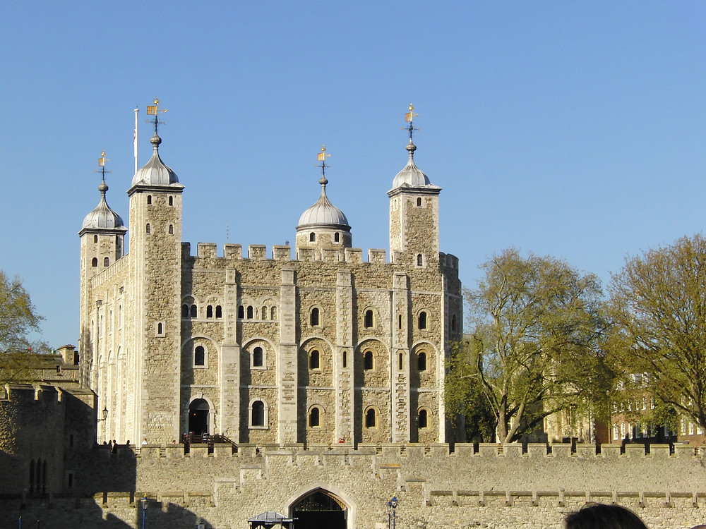 The Tower of London, view from the River Thames.