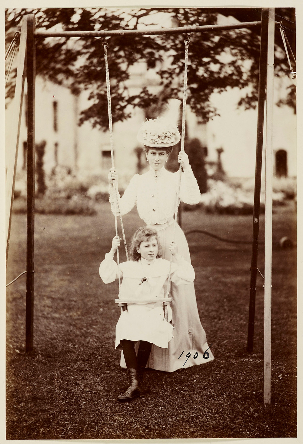 Queen Mary when Princess of Wales and the Princess Royal when Princess Mary of Wales 1906