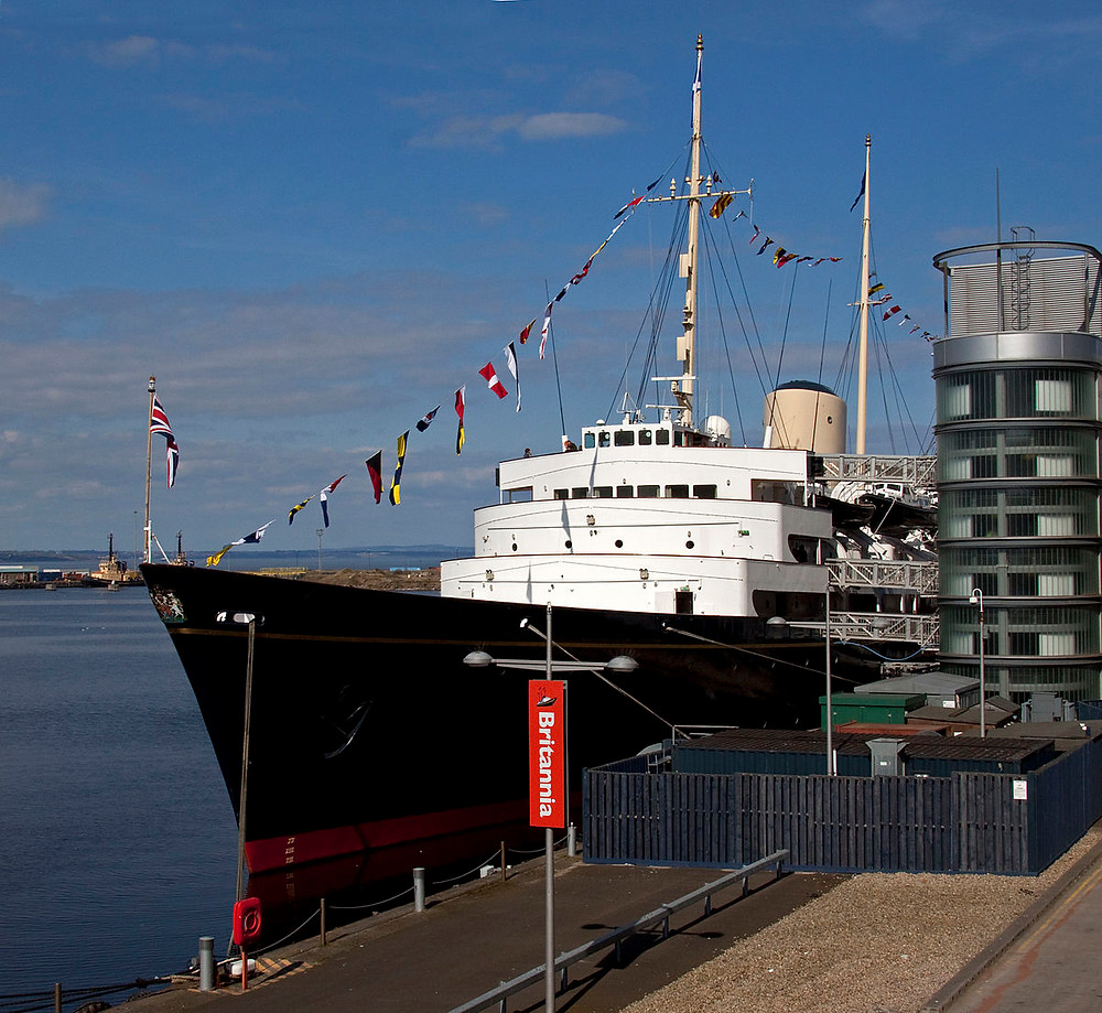 HMY Britannia, now a museum stationed in Edinburgh