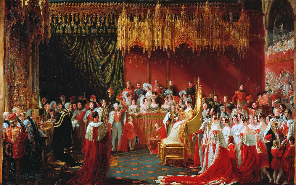 Sir George Hayter's view of the 1838 coronation