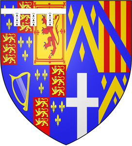 By A1 Aardvark (talk) - SVG elements fromEarl_of_Clarendon_Arms.svgEngland_Arms_1603.svg, CC BY-SA 3.0, https://commons.wikimedia.org/w/index.php?curid=7277961