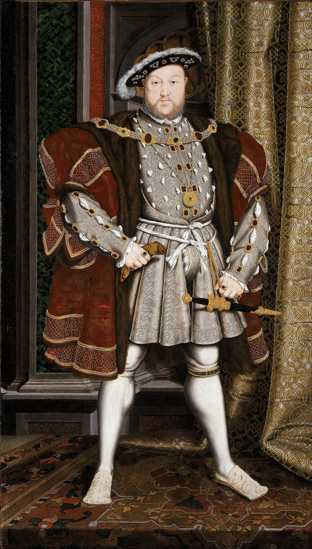 King Henry VIII the second monarch from the House of Tudor, famous for his six wives.