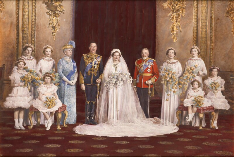 The wedding of Prince Henry, Duke of Gloucester and Princess Alice, Duchess of Gloucester  by and after Vandyk hand-coloured bromide print, 6 November 1935 NPG x134883  © National Portrait Gallery, London