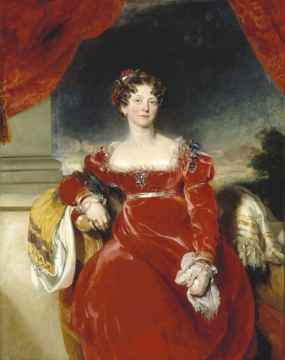 Princess Sophia portrait by Thomas Lawrence, daughter of George III