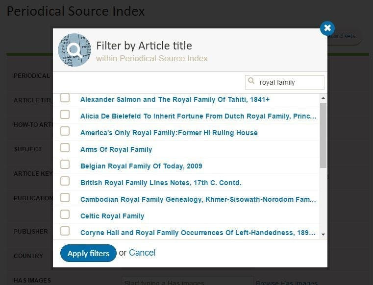 Directories & social history records search at Find my Past website