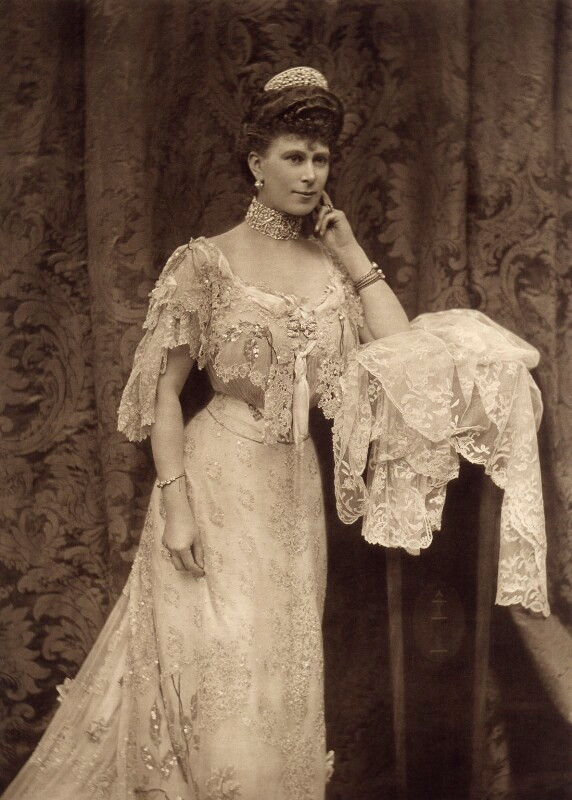 Queen Mary by Alice Hughes photogravure, 1905
