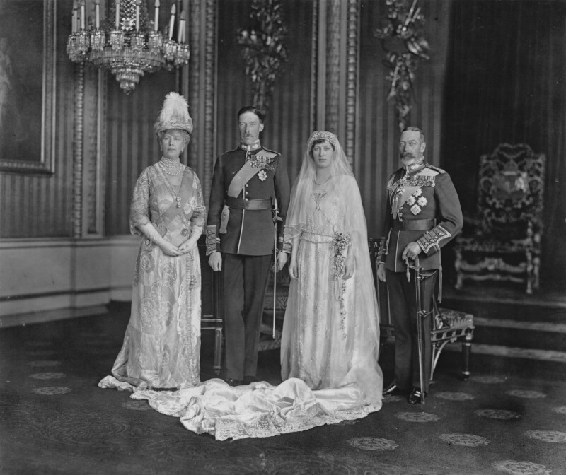 Queen Mary; Henry George Charles Lascelles, 6th Earl of Harewood; Princess Mary, Countess of Harewood; King George V