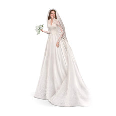 The Bradford Exchange 'Catherine the Royal Bride' - Commemorative Royal Wedding Kate Middleton Figurine