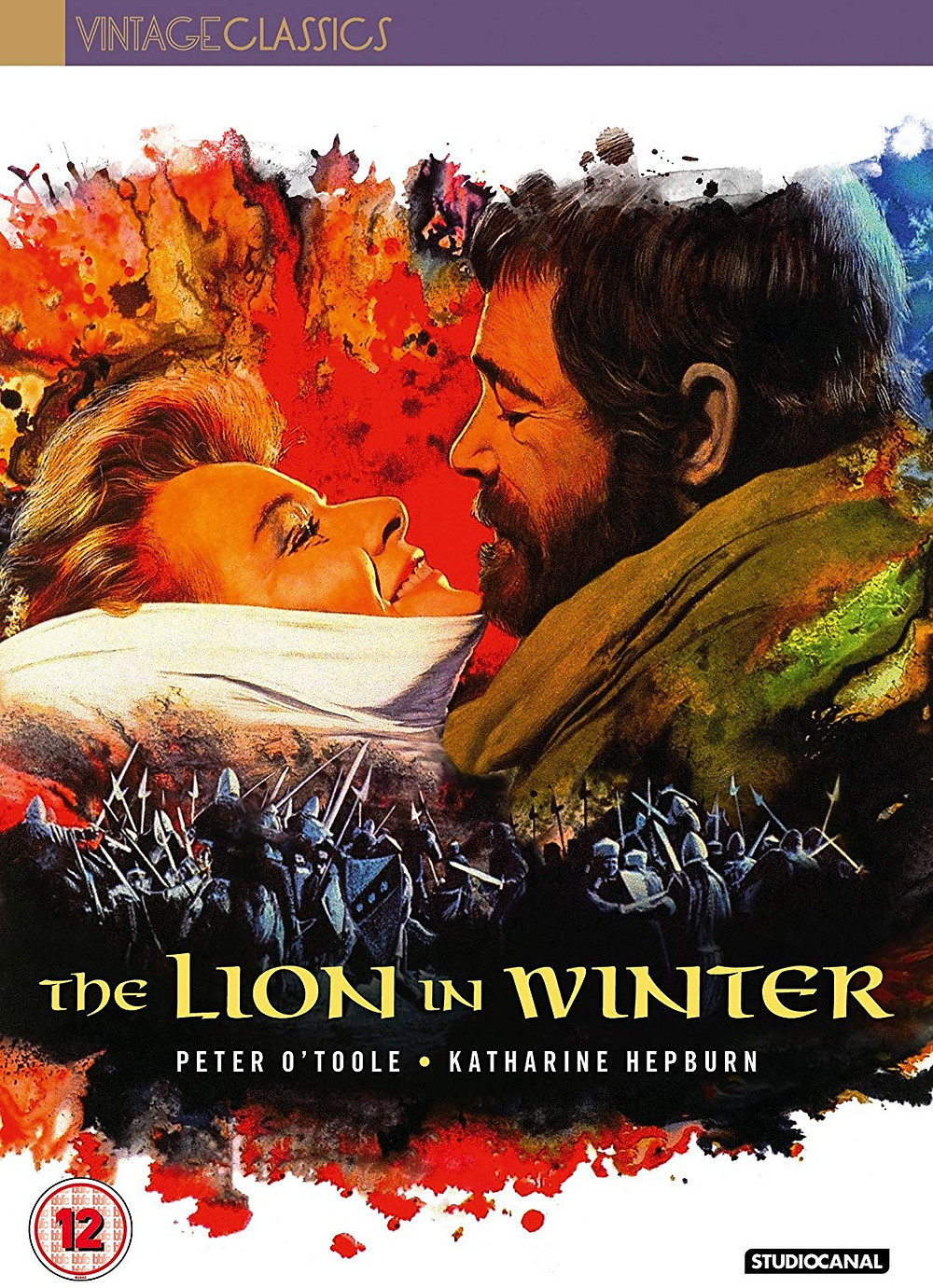 DVD - The Lion in Winter - England, the 12th Century. After the death of his son and heir, King Henry II (Peter O'Toole) is obsessed with finding a new successor, so summons his three remaining sons. Also summoned is his wife, the formidable Eleanor of Aquitaine (Katherine Hepburn), who he has kept imprisoned for the last ten years. As the Royal couple scheme and cajole with their sons their passions turn from tenderness to fury as they determine who should be the future King of England. Katherine Hepburn won her third of an unprecedented four Best Actress Oscars for this film, and director Anthony Harvey was also nominated. Also starring Timothy Dalton and Anthony Hopkins.