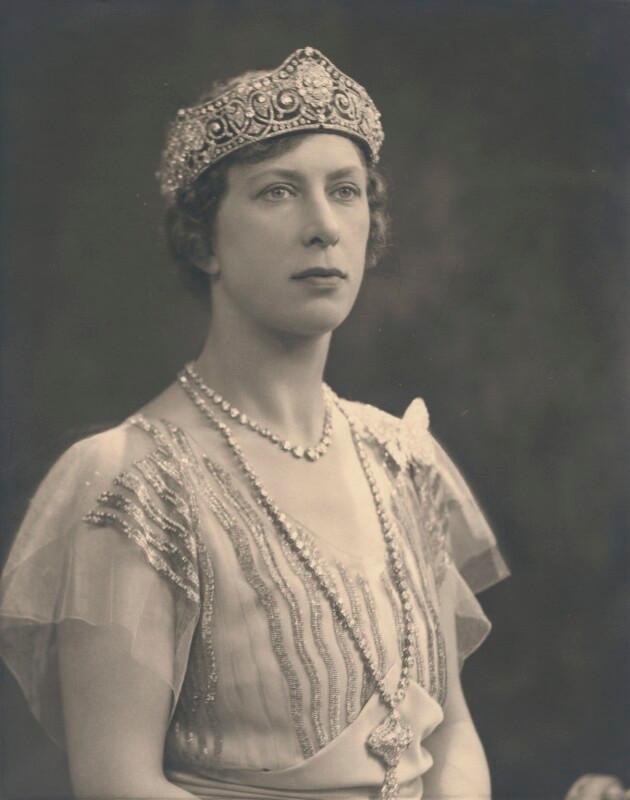 Mary, Princess Royal and Countess of Harewood photograph. Royal family history. British monarchy. tiara