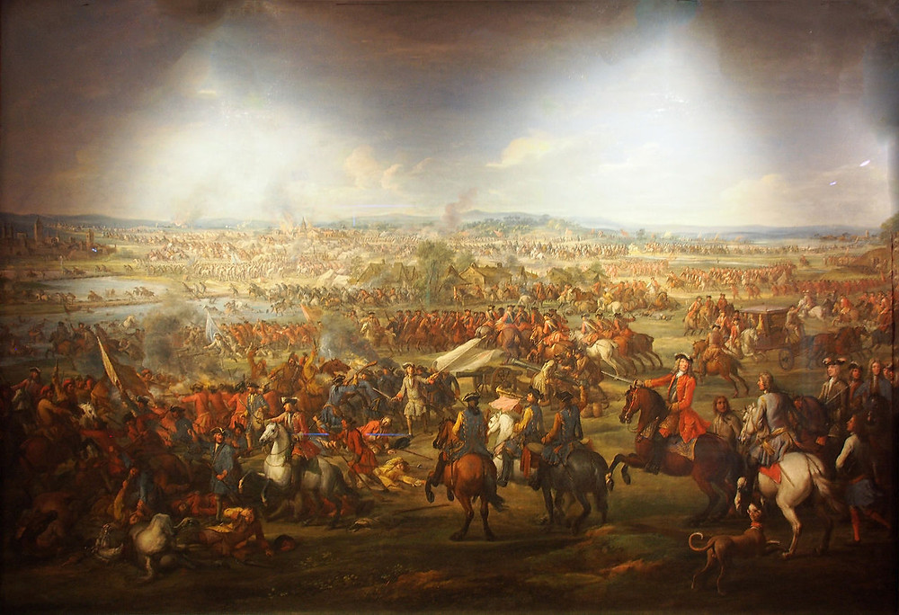 The Battle of Blenheim 1704 painting by John Wootton