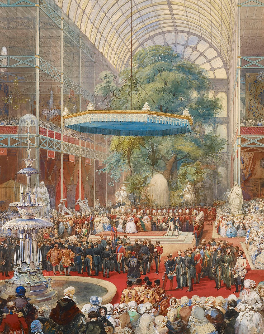 The opening of the Great Exhibition 1851 by Eugene-Louis Lami painting from the Royal collection