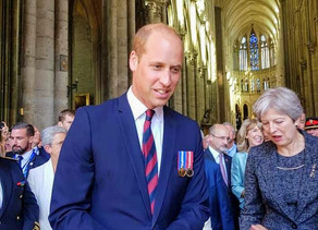 Prince William & Theresa May pay their respects at the Battle of Amiens centenary ceremony, France