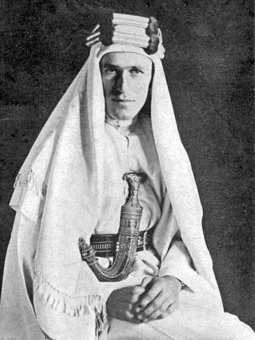 T.E Lawrence, 1919 By Lowell Thomas (photographer) [Public domain], via Wikimedia Commons