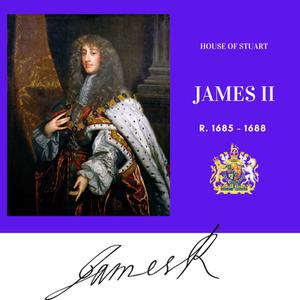 King James II of England, Stuart Monarch, the last Roman Catholic king of Great Britain