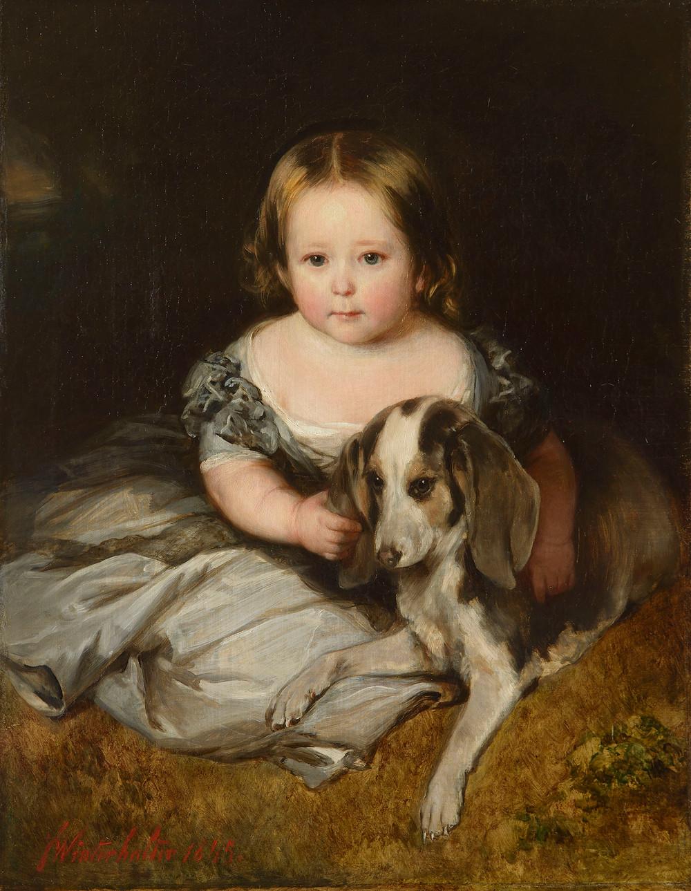 Princess Alice, by FRANZ XAVER WINTERHALTER 1845. Royal Collection Trust/© Her Majesty Queen Elizabeth II 2020