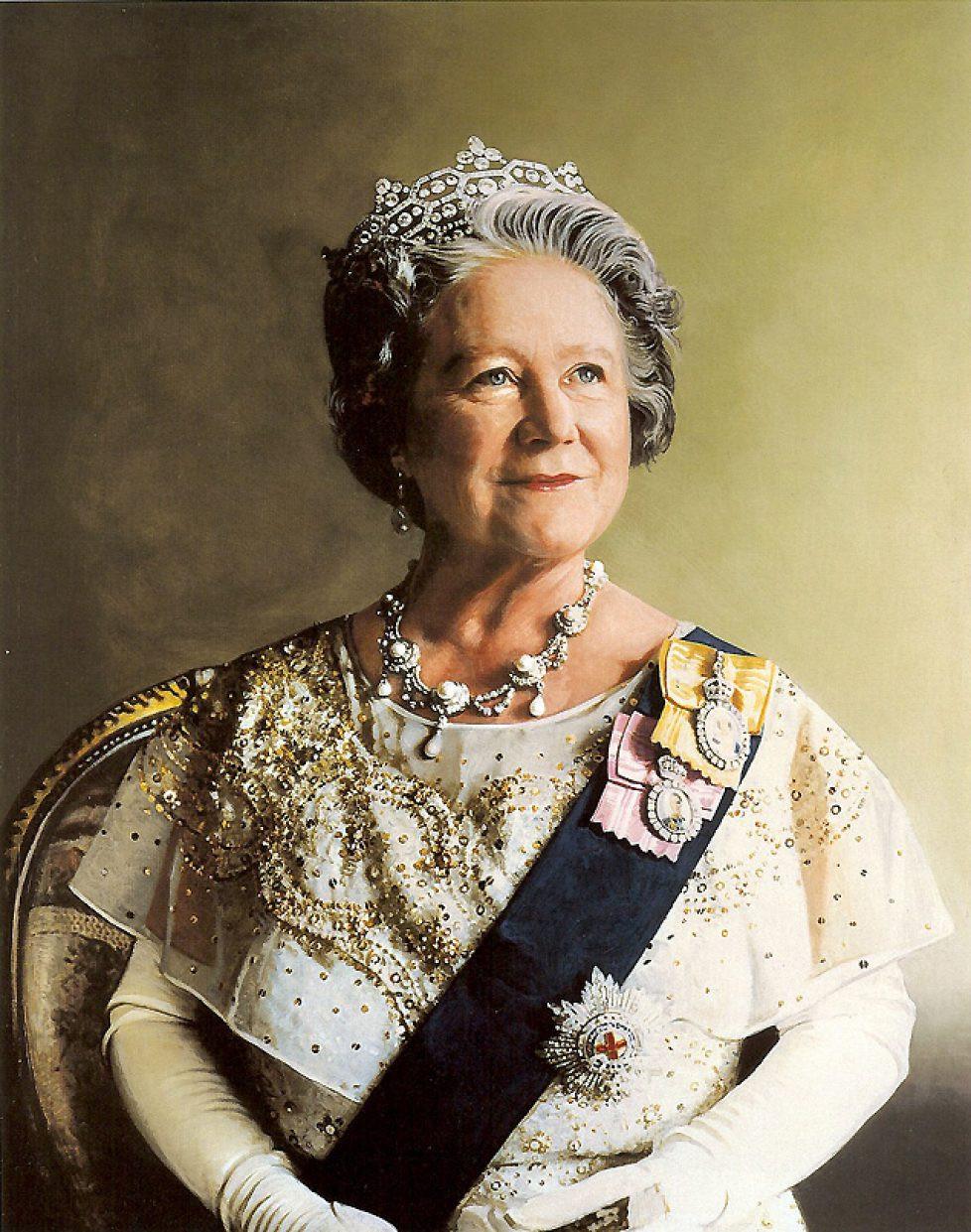 Queen Elizabeth the Queen Mother portrait painting