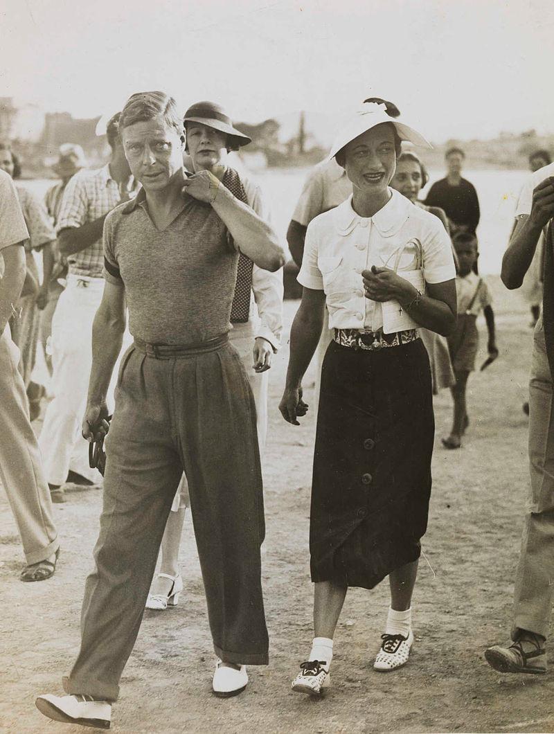 Edward VIII and Wallis Simpson on their Mediterranean holiday, 1936