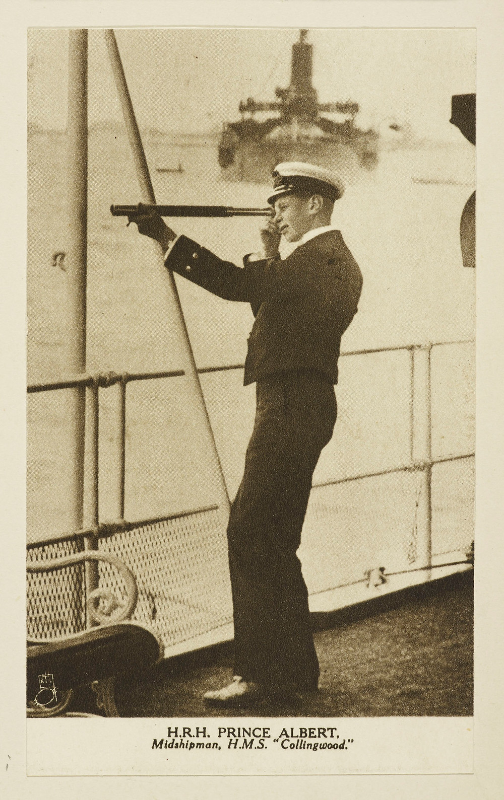 King George VI (1895-1952), when Prince Albert on-board HMS Collingwood c. 1915