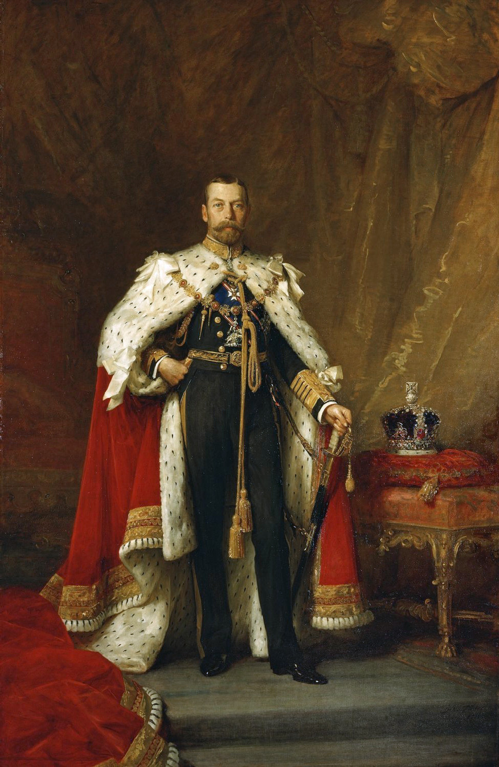 Coronation portrait of George V by Luke Fildes