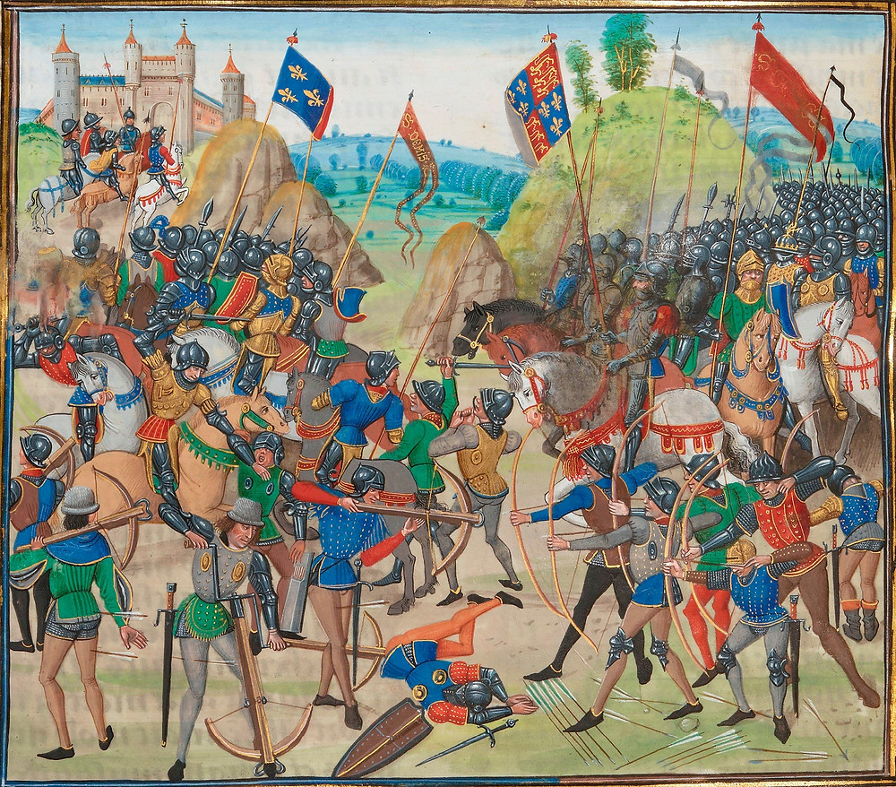 Battle of Crécy between the English and French in the Hundred Years' War