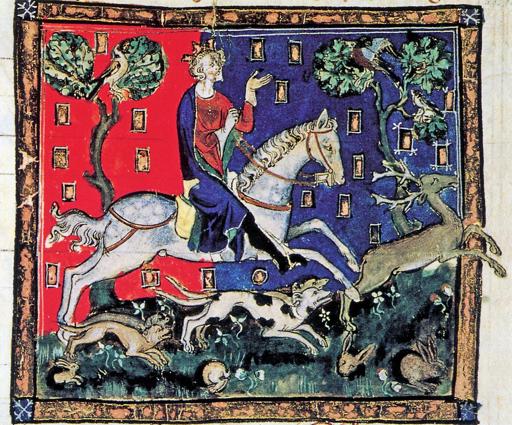 king john on a stag hunt