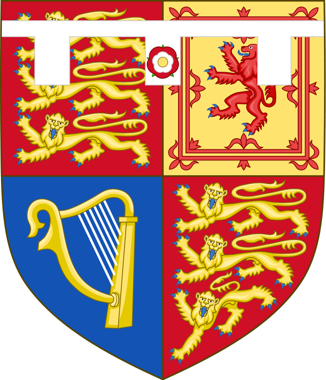The arms of Prince Edward, Earl of Wessex, son of Queen Elizabeth II & Prince Philip, Duke of Edinburgh. Heraldry , Royal history