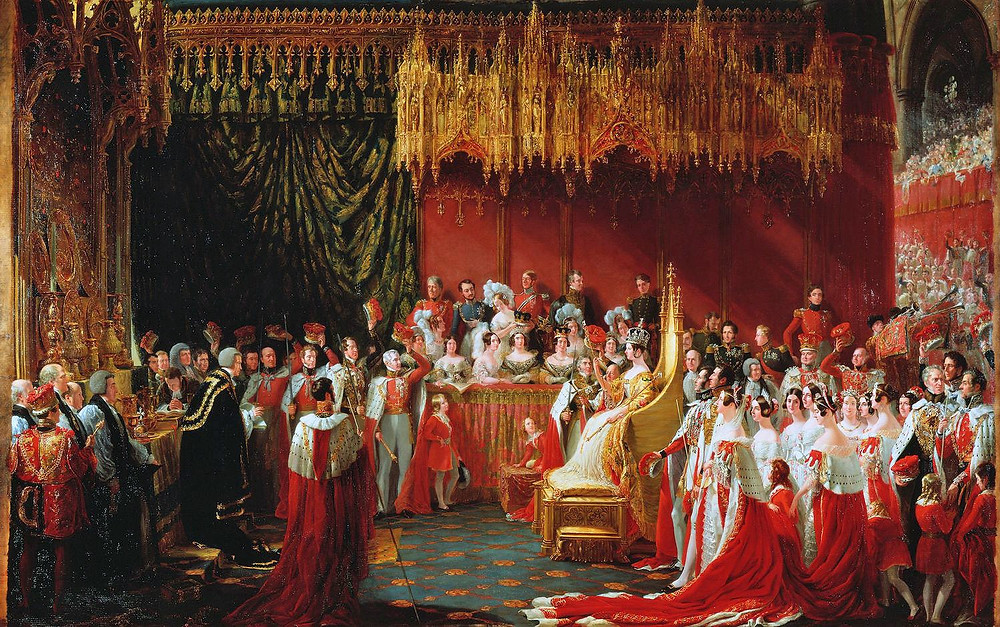 Sir George Hayter's view of Queen Victoria's 1838 coronation