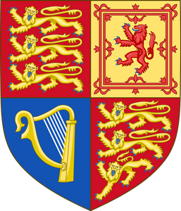 Queen Elizabeth II shield of arms used in the United kingdom except Scotland